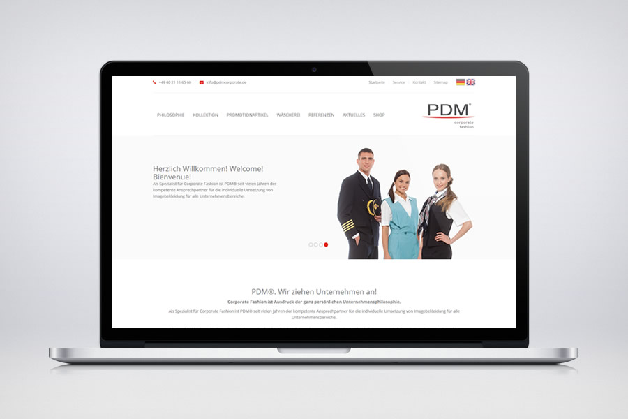 PDM Corporate Fashion - Contao Website